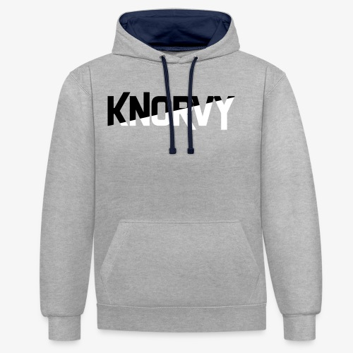 KNORVY - Contrast hoodie