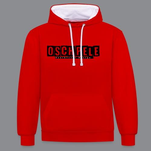 oschpele Kachelform - Kontrast-Hoodie