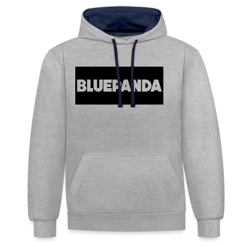 BLUE PANDA - Contrast Colour Hoodie