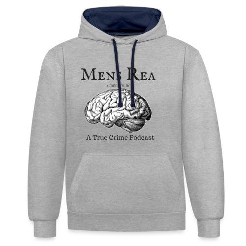 Guilty Mind Mens rea Logo - Contrast Colour Hoodie