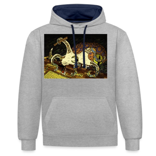 be the octopus - Contrast Colour Hoodie