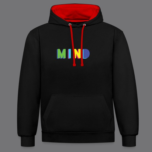 MIND Tee Shirts - Contrast Colour Hoodie