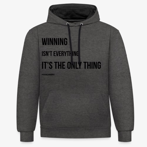 Football Victory Quotation - Contrast Colour Hoodie