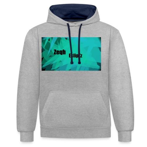 Zeqh EclipZz Youtube Name - Contrast Colour Hoodie