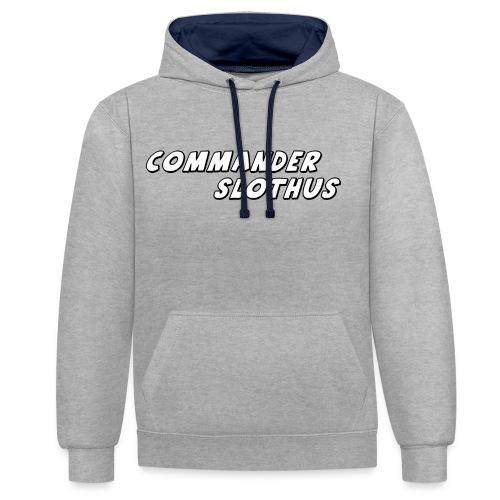 CommanderSlothus Logo - Contrast Colour Hoodie