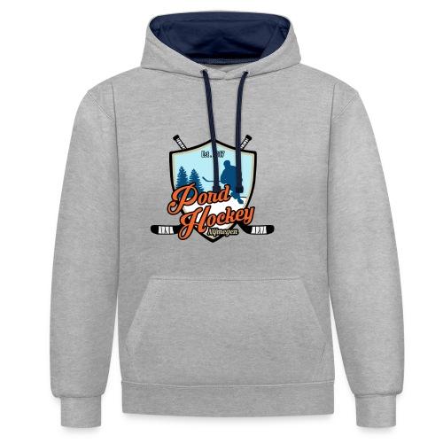 Logo Pondhockey voor hood - Contrast hoodie