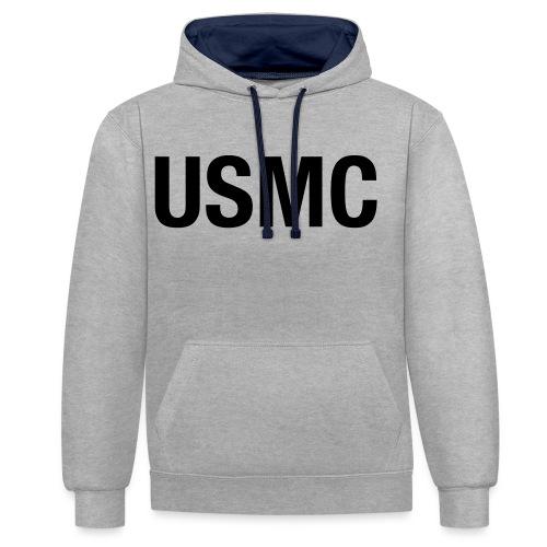 USMC - Contrast Colour Hoodie
