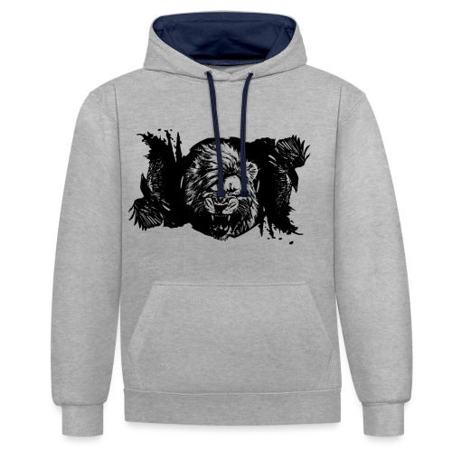 Raven & lion - Sweat-shirt contraste