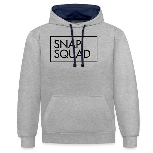 SNAPSQUAD Gear - Black Logo - Contrast Colour Hoodie