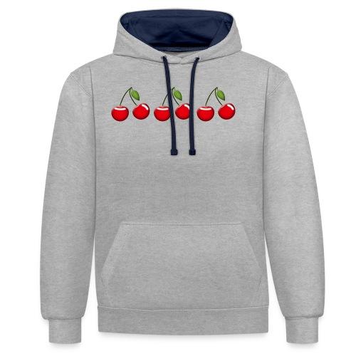 cherries - Contrast Colour Hoodie
