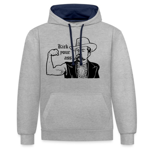 Kick Your Ass - Contrast hoodie