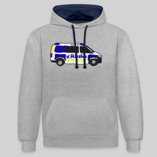 poliisiauto - Kontrastihuppari