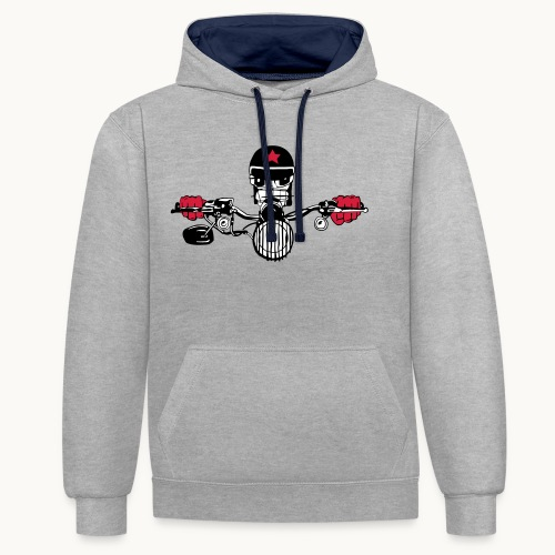 Motard Micky on the Road - Sweat-shirt contraste