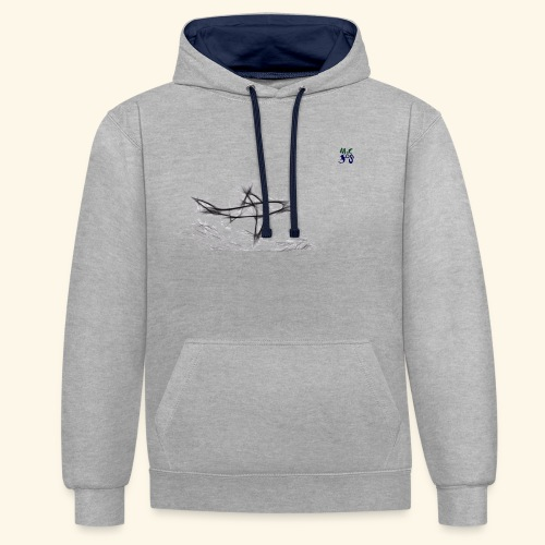 requin 03 21 - Contrast Colour Hoodie