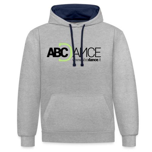 ABCDance - Felpa con cappuccio bicromatica