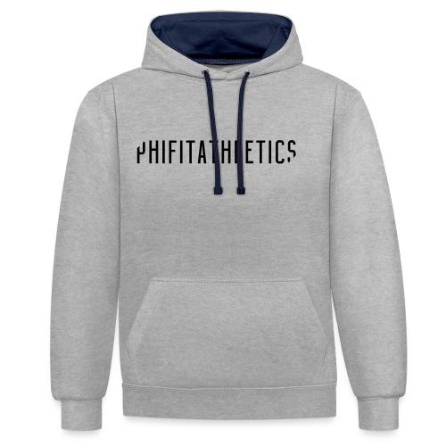 Phifit Athletics Hoodie Wide Logo Black - Contrast hoodie