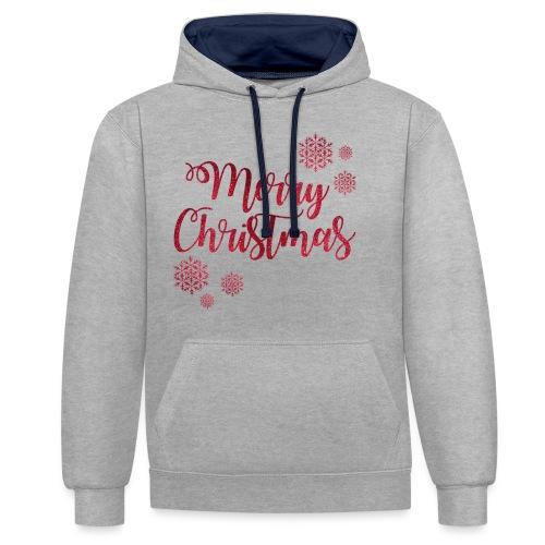 Merry christmas Noël New shape fane design vintage - Sweat-shirt contraste