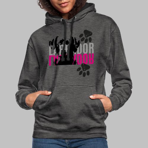 Labrador Kopf Pfoten - Kontrast-Hoodie
