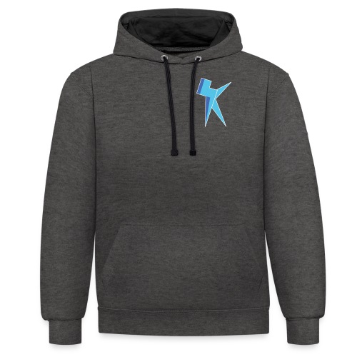 K Vlogs Logo - Contrast hoodie