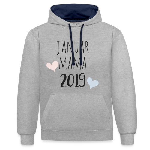 Januar Mama 2019 - Kontrast-Hoodie