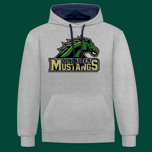 mustangs logo 2019v4 - Contrast Colour Hoodie