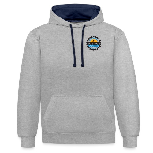 Guernsey Rouleurs Small Logo - Contrast Colour Hoodie