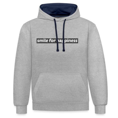 smile for happiness - Kontrastluvtröja