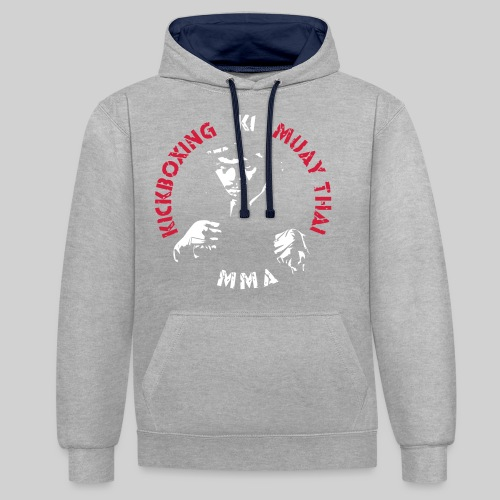 MMA Fighter Face - 2 colors - Contrast Colour Hoodie
