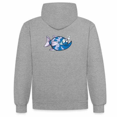 poisson - Sweat-shirt contraste