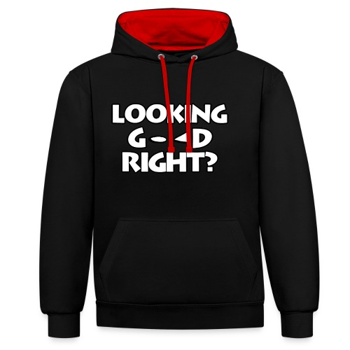 LOOKING GOOD - Contrast Colour Hoodie