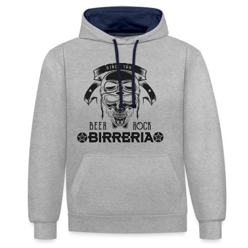 Classic Birreria Rock Skull - Kontrast-Hoodie