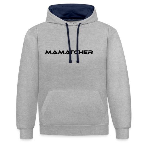 MaMatcher - Kontrast-Hoodie
