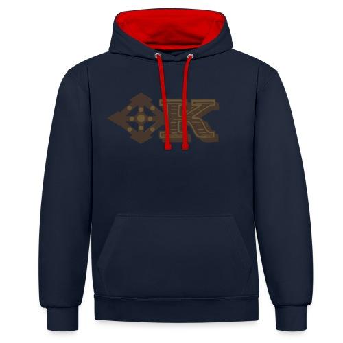 Kenya Airways Logo - Contrast Colour Hoodie