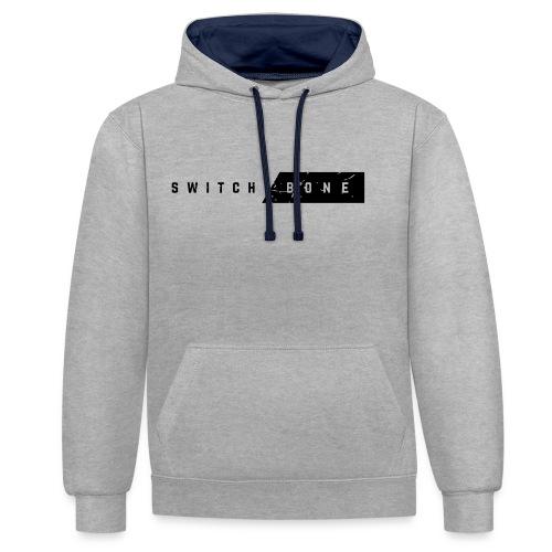 Switchbone_black - Contrast hoodie