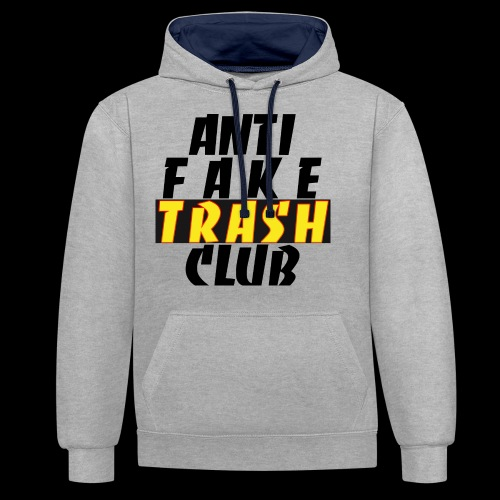 ANTI FAKE TRASH CLUB - Contrast Colour Hoodie