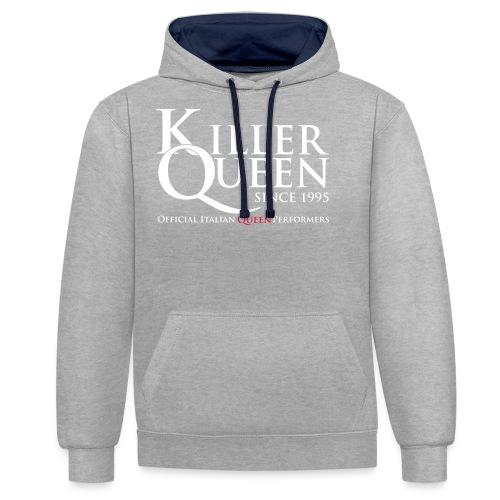Killer Queen Italia - Felpa con cappuccio bicromatica