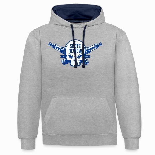 The Scots Review Classic Logo - Contrast Colour Hoodie