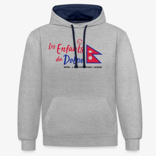 Les Enfants du Doplo - Grand Logo Centré - Sweat-shirt contraste