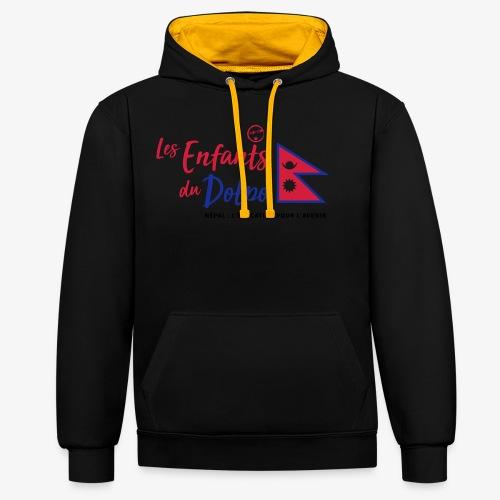Les Enfants du Doplo - Grand Logo Centré - Sweat-shirt contraste
