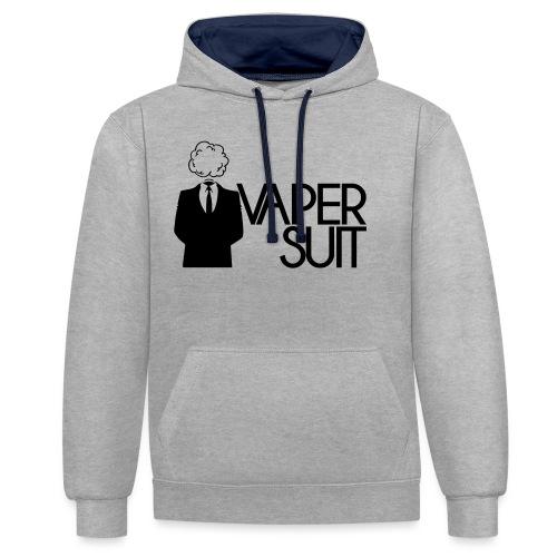 VAPER SUIT - Bluza z kapturem z kontrastowymi elementami