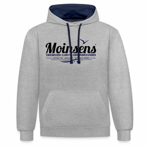 MOINSENS - Kontrast-Hoodie