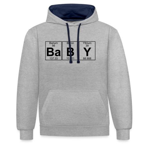 Ba-B-Y (baby) - Full - Contrast Colour Hoodie