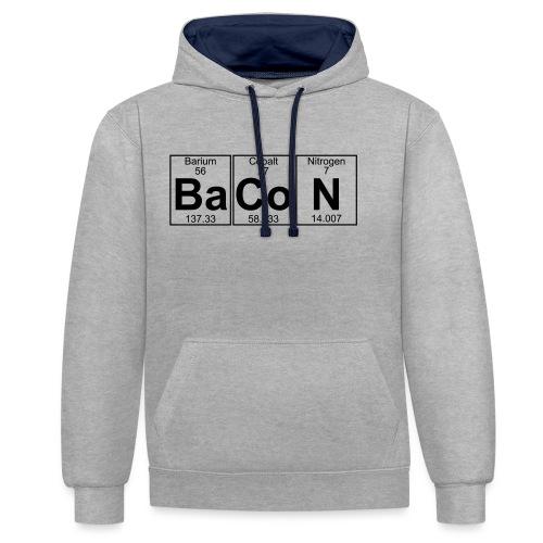 Ba-Co-N (bacon) - Full - Contrast Colour Hoodie