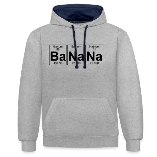 Ba-Na-Na (banana) - Full - Contrast Colour Hoodie