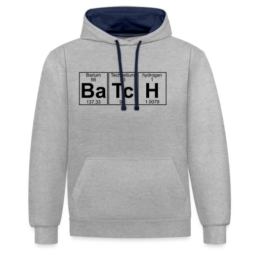 Ba-Tc-H (batch) - Full - Contrast Colour Hoodie