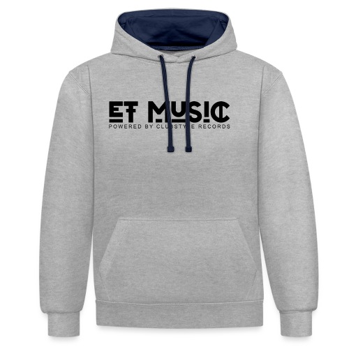 E.T. Music Logo (Powered by ClubStyle Records) - Contrast hoodie