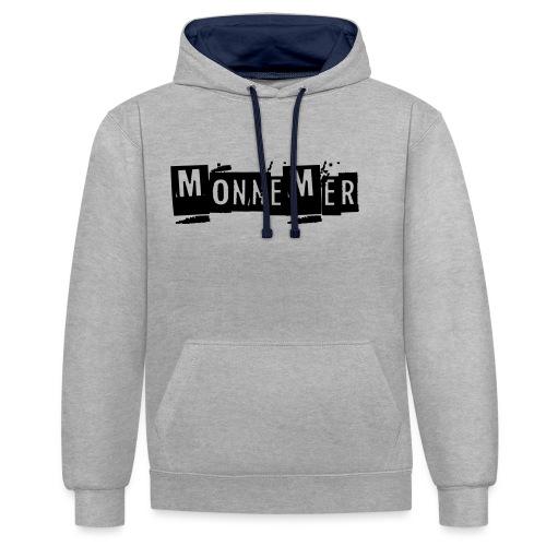 monnemer - Kontrast-Hoodie