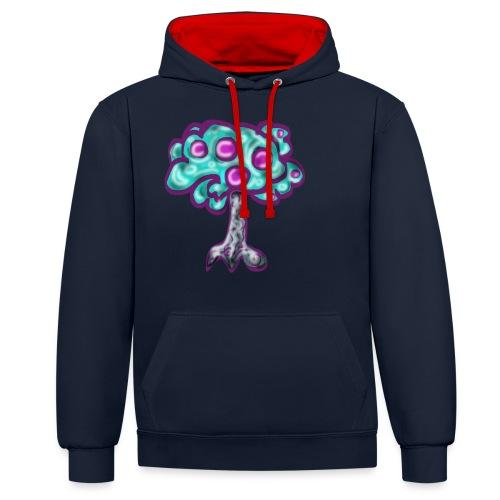 Neon Tree - Contrast Colour Hoodie