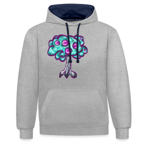 Neon Tree - Contrast Colour Hoodie