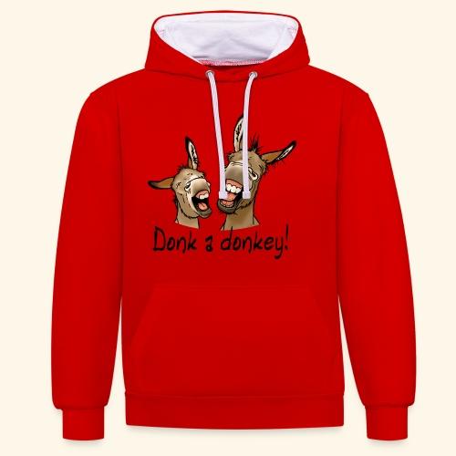 Ane Donk a donkey (texte noir) - Sweat-shirt contraste